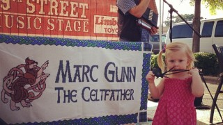 Marc Gunn Celtic Music Banner at Pepper Place Market