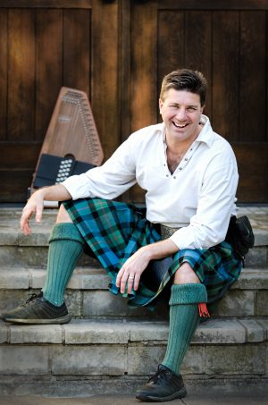 Relaxed and Happy in a Kilt