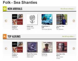 Pirates vs. Dragons also hit #1 for Sea Shanties!