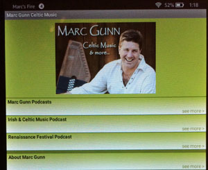 Marc Gunn Celtic Music App Updated